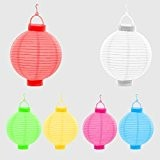6er Set LED Lampion Papierlaterne Lampions Laterne Garten Dekoration Ø 20 cm