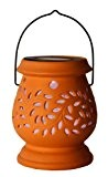 Best Season LED-Solar-Laterne Clay Lantern / 1 cool light LED / mit Solarpanel, inklusiv Akku / outdoor / terracotta 477-48