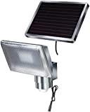 Brennenstuhl LED-Strahler SOL / LED-Leuchte für außen mit Bewegungsmelder und Solar-Panel (IP44, inkl. Akku, 8 x 0,5W) Farbe: Aluminium