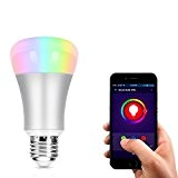 LOPOO Smart LED Glühlampe Wi-Fi Lampen 7W Smart Light APP Glühbirne Kompatibel mit Smart Phone APP (Silbe)