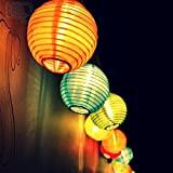 Samoleus Solar Outdoor Lichterkette 4.8 Meter 20 LEDs Lampions Laterne Solarbetrieben Lichterkette Wasserfest Weihnachten Dekoration für Garten, Terrasse, Hof, Haus, ...