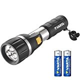 Varta 3x 5mm LED Day Light Taschenlampe inkl. 2x High Energy AA Batterien Flashlight Leuchte Lampe Taschenleuchte Taschenlicht für Haushalt, ...
